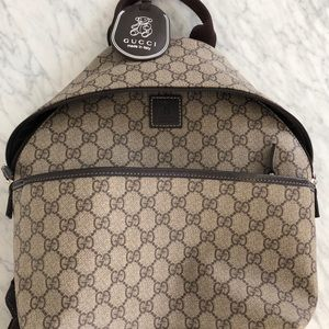 Authentic kids Gucci monogram bagpack